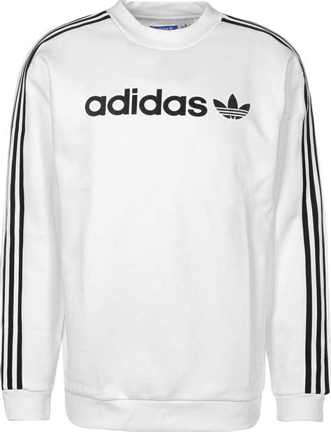adidas linear crew sweater white