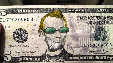 abraham lincoln on the five dollar bill cool abe lincoln on a five dollar bill
