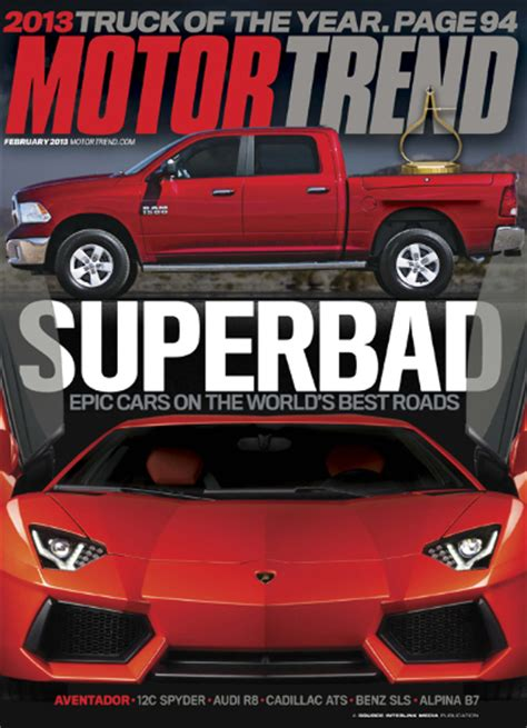 motor trend subscription motor trend magazine 86 discount on 12 month