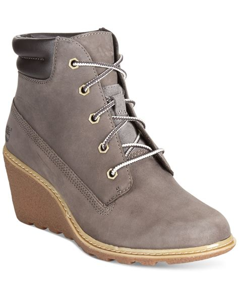 timberland wedge boots timberland s earthkeepers amston wedge booties in