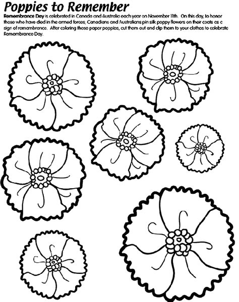 poppies to remember coloring page crayola com