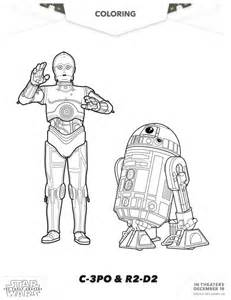 wars awakens printables wars the awakens c 3po r2 d2 coloring page