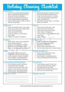 holiday cleaning free checklist guest ready
