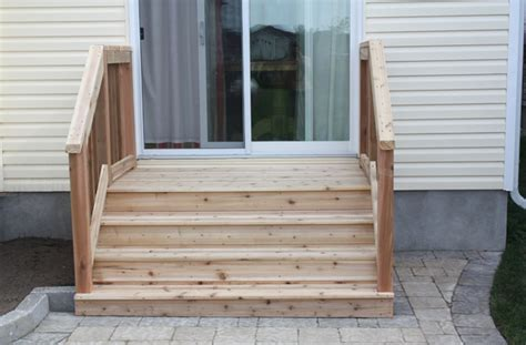 Back Stairs Design Patio Door Steps Patio Step Idea Foursquare Exterior Steps From High Patio Door Garden 36