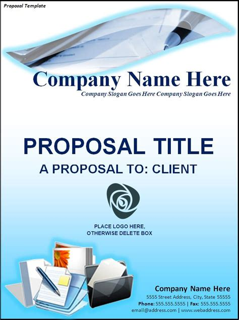 proposal template word templates