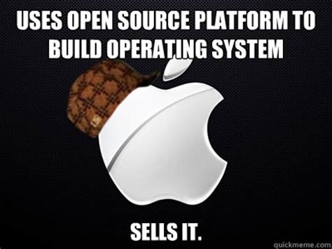 Meme Source - uses open source platform to build operating system sells