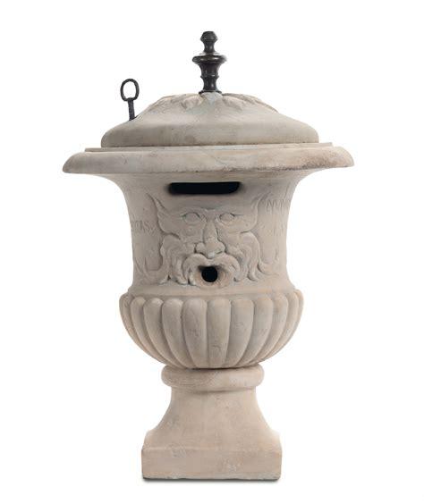 vaso marmo vaso tipo mediceo in marmo bianco con coperchio xviii