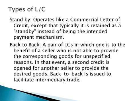 Letter Of Credit Basics Maintaining Letter Of Credit Some Basic Theory
