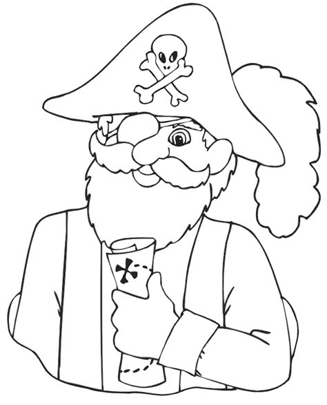free coloring pages of pirates