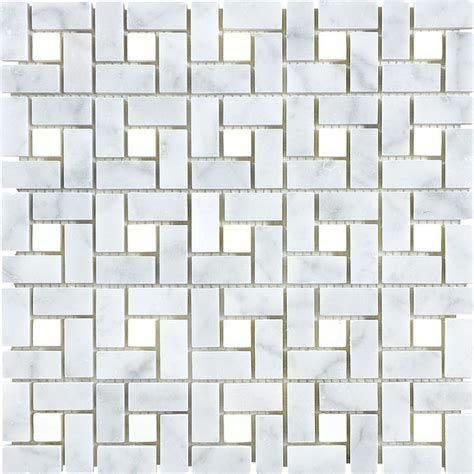 lowes wall tiles for bathroom shop 12 in x 12 in carrara pinwheel marble