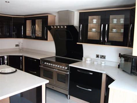 Black Modern Kitchen Cabinets by Lovely Black Modern Kitchen Cabinets Railing Stairs And