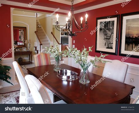 well decorated homes well decorated formal dining room luxury stock photo