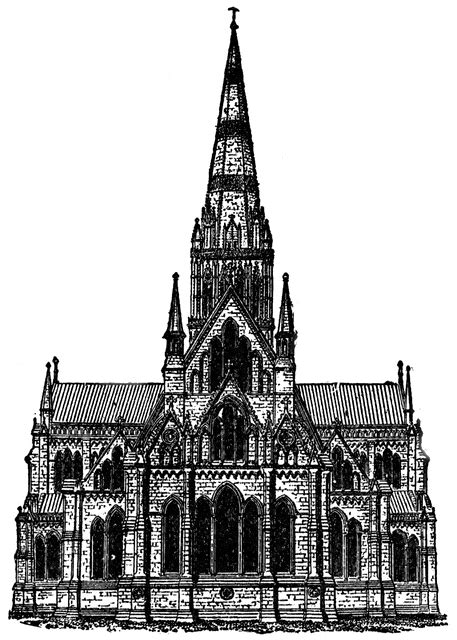 Gothic Architecture - Salisbury Cathedral | ClipArt ETC