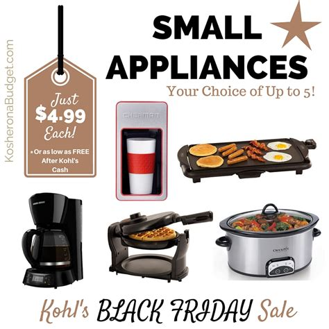 small kitchen appliances on sale kohl s black friday has started small appliance for