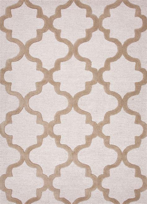 Modern Pattern Rugs Modern Geometric Pattern Beige Brown Wool Tufted Rug Ct19 9 6x13 6 Contemporary Area