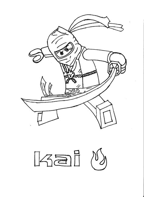 coloring pages ninjago kai color pages ninjago kai ninjago pinterest