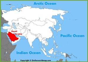 Saudi Arabia World Map by Saudi Arabian Location On The Asia Map