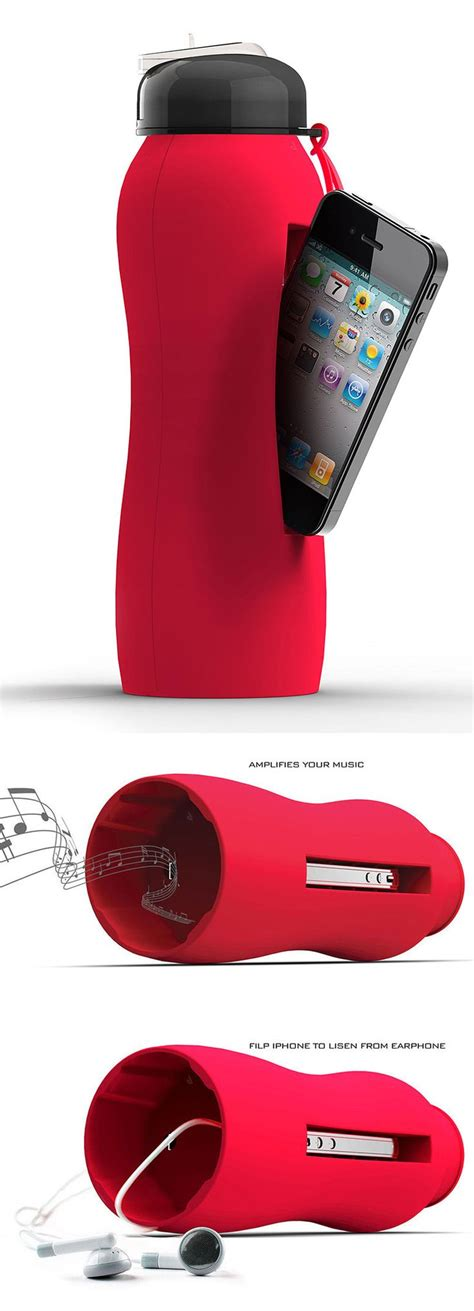 red martini bottle red bazooka drink bottle cleverly holds your iphone a