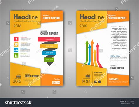 front page design template vector brochure flyer design layout template เวกเตอร สต อก