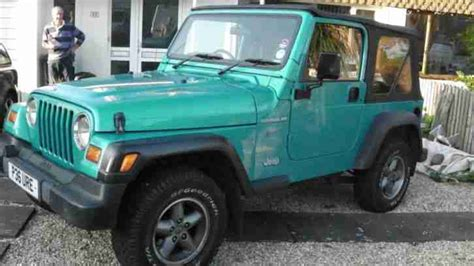 jeep wrangler turquoise for sale jeep wrangler 2 4l manual 1997 car for sale
