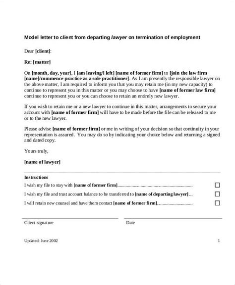 sample termination letter templates ms word