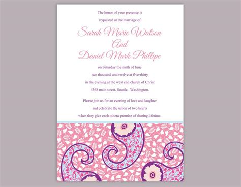 free indian wedding invitation templates diy wedding invitation template editable word