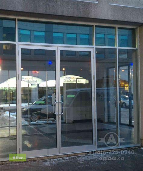 aluminum doors toronto entrance door commercial showroom toronto a glass and