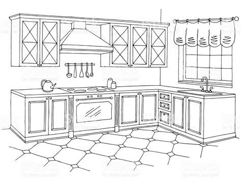 kitchen clipart black and white clipart station