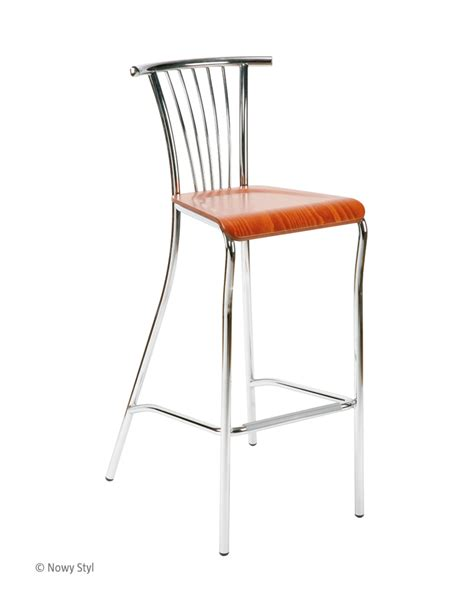 wood and chrome bar stools baleno hocker wood chrome bar stools and stools nowy styl