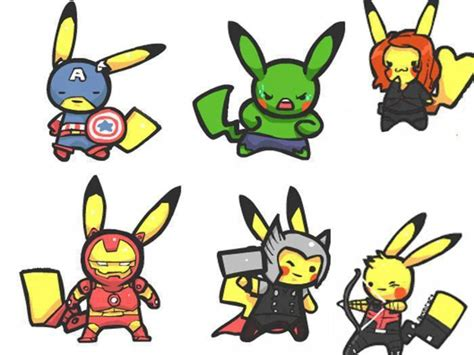 pokemon avengers mashup fandompics deviantart