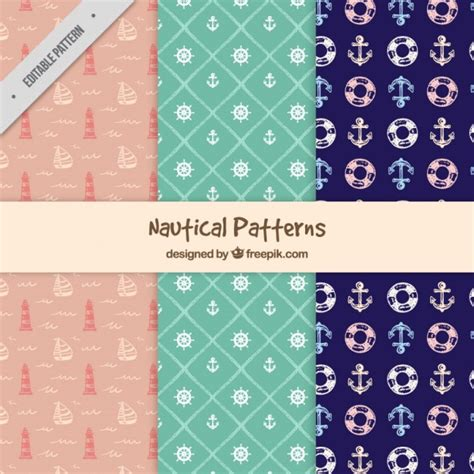 nautical pattern vector free hand drawn nautical patterns vector free download