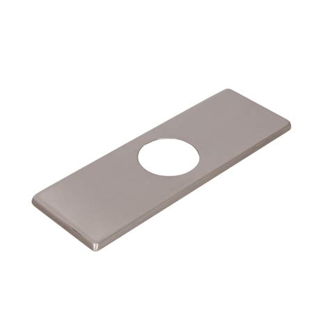 Faucet Cover Plate by Elite Fp05bn Brushed Nickel Bathroom Sink Faucet