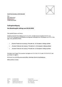 Mahnung An Chef Muster Vorlage F 252 R Auftragsbest 228 Tigung Zum Kostenlosen