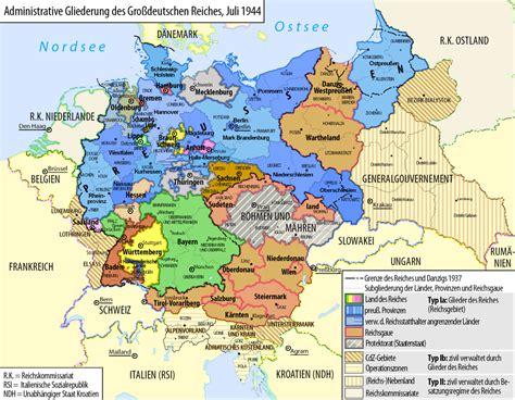 map of germany 1944 file grossdeutsches reich staatliche administration 1944