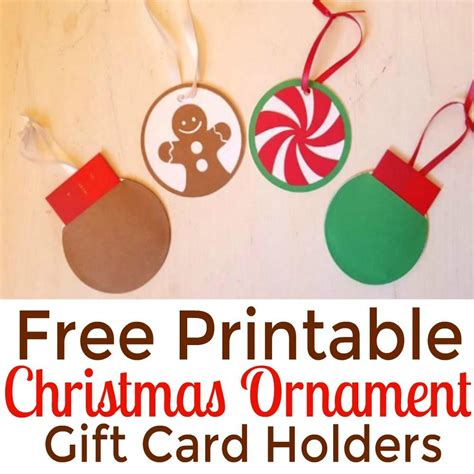 diy ornament gift card holders free printables simple