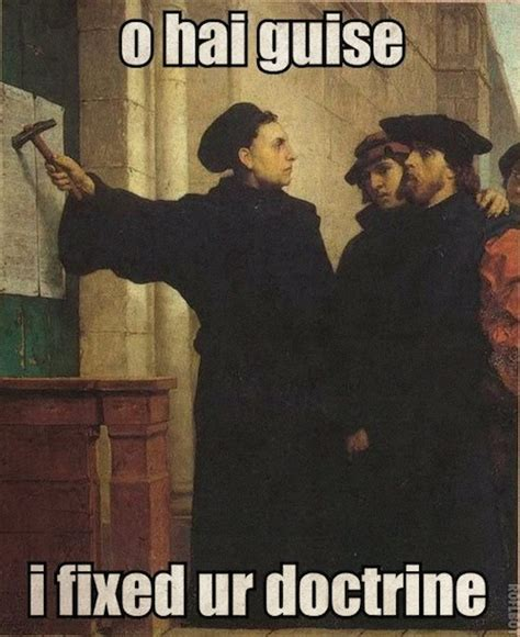 Martin Luther Memes - happy counter reformation day extra ecclesiam nulla salus