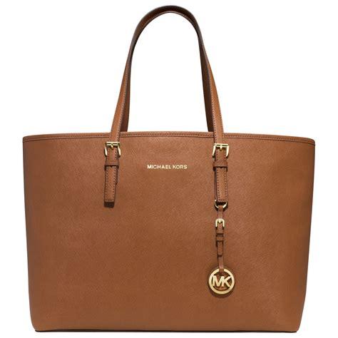 light brown mk purse michael michael kors medium jet set multi function