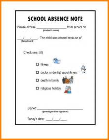School Absence Explanation Letter Sle 6 How To Write An Excused Absence Note For School Emt Resume