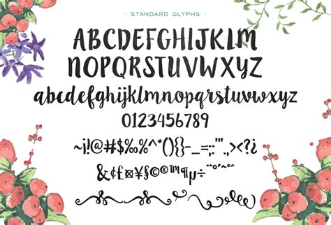 Handmade Fonts Free - ink blossoms handmade script by emily spadoni