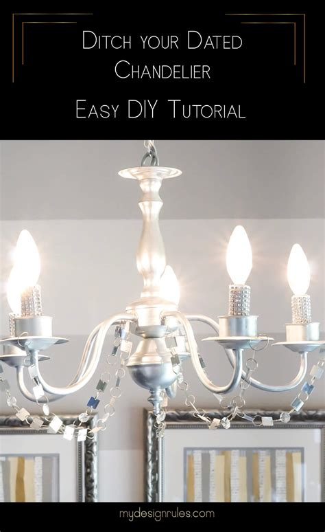 Brass Chandelier Diy Easy And Inexpensive Brass Chandelier Diy My Design