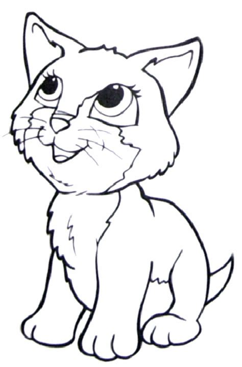adorable kitty coloring page cute kitty coloring pages free coloring pages of cute