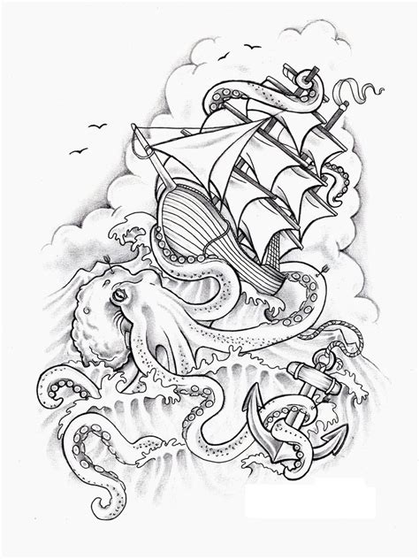 ship tattoo design octopus tattoos designs ideas and meaning tattoos for you
