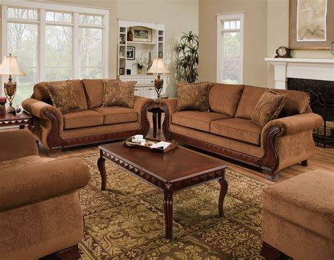 Traditional Sectional Sofas Living Room Furniture Sofas Couches Loveseats Oversized Chairs Fabric Suede Microfiber Traditional Brown