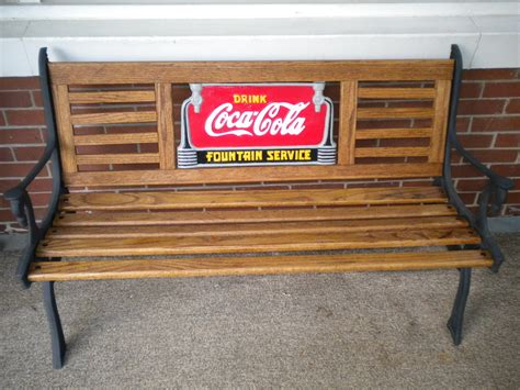 coca cola bench collectors weekly