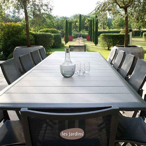 table carrée rallonge 717 collection hegoa table extensible en aluminium gris