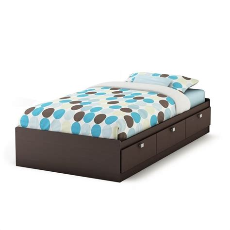 south shore cakao mates captain s bed w bookcase