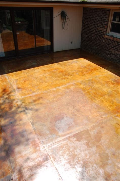 Concrete Countertops Nashville by Concrete Overlay And Acid Stained Patio Mediterranean