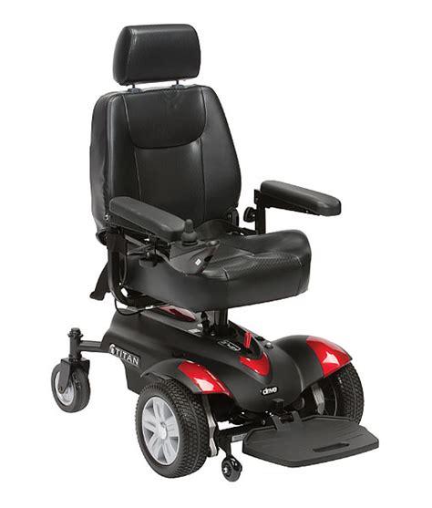 Electric Power Chair by Drive Titan Power Chair Electric Wheelchair X2 35ah