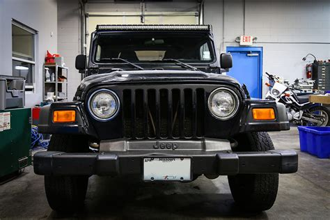 Jeep Light Bar by 97 2006 Jeep Tj Wrangler Led Light Bar Steel A Pillar Led