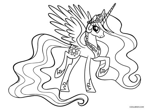 coloring page my little pony celestia free printable my little pony coloring pages for kids